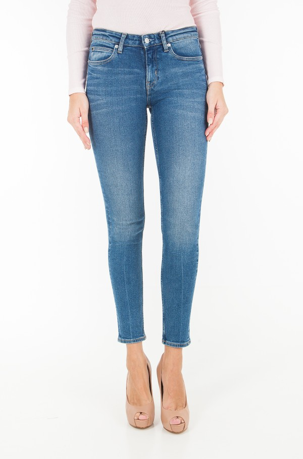 CKJ 011: Mid Rise Skinny West - Chico Blue