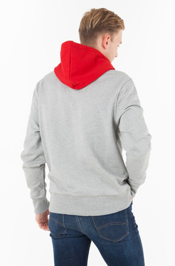 RELAXED CONTRAST DETAIL HOODIE-hover
