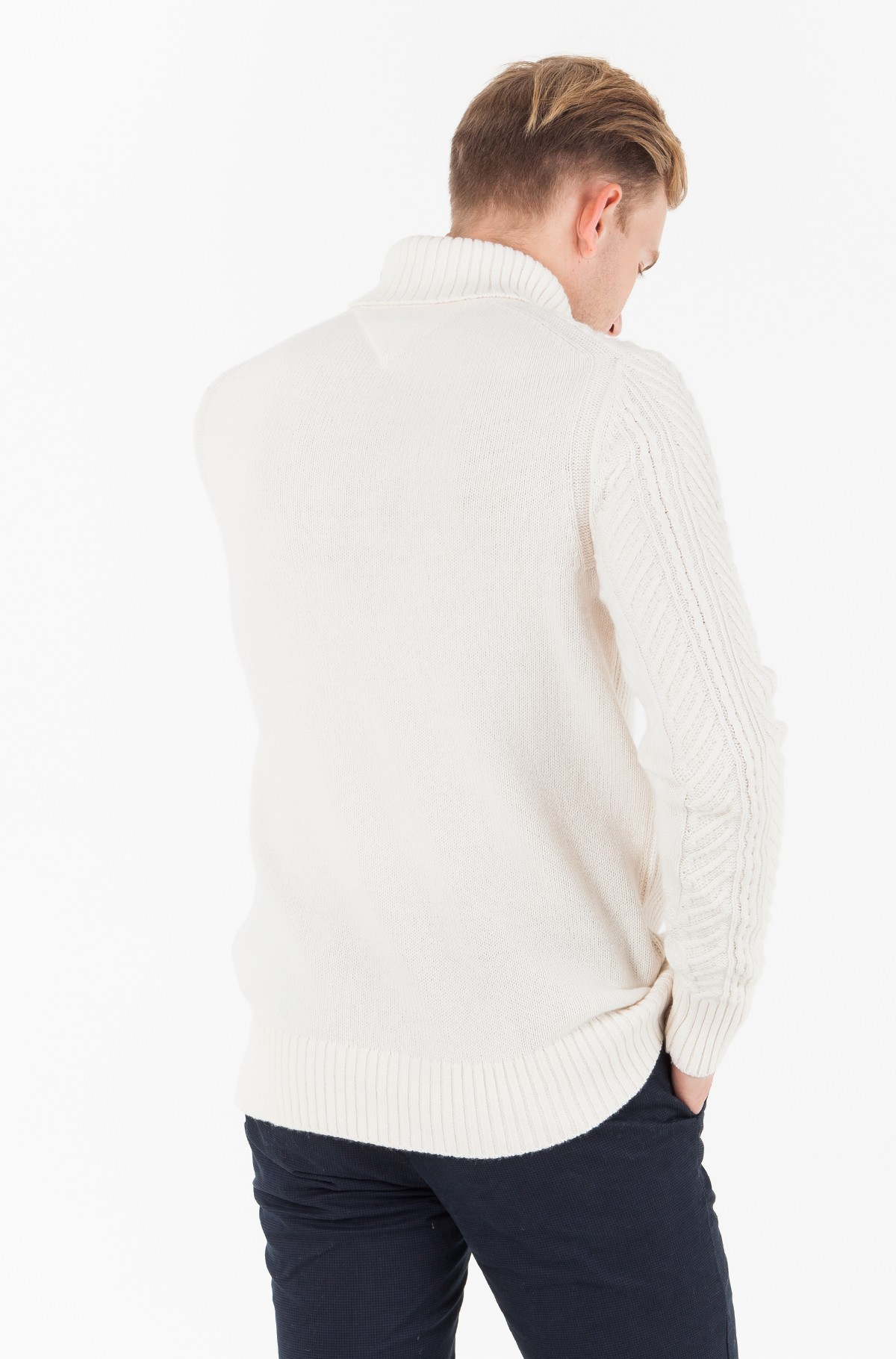 Pulovers  WOOL MIX CABLE ROLL NECK-full-2