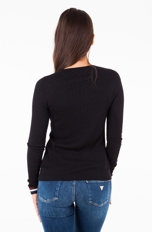 TJW EASY FITTED CABLE SWEATER-hover