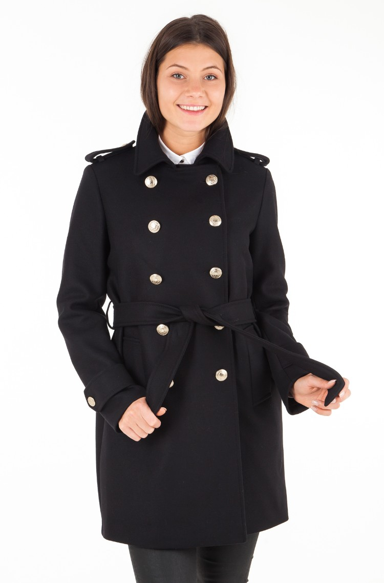 1be02b72e35 Coat BELLE WOOL BLEND TRENCH Tommy Hilfiger