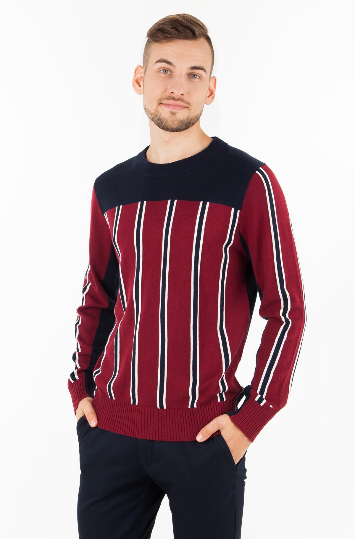 Sweater REGIMENTAL BLOCK STRIPED CNECK-full-1