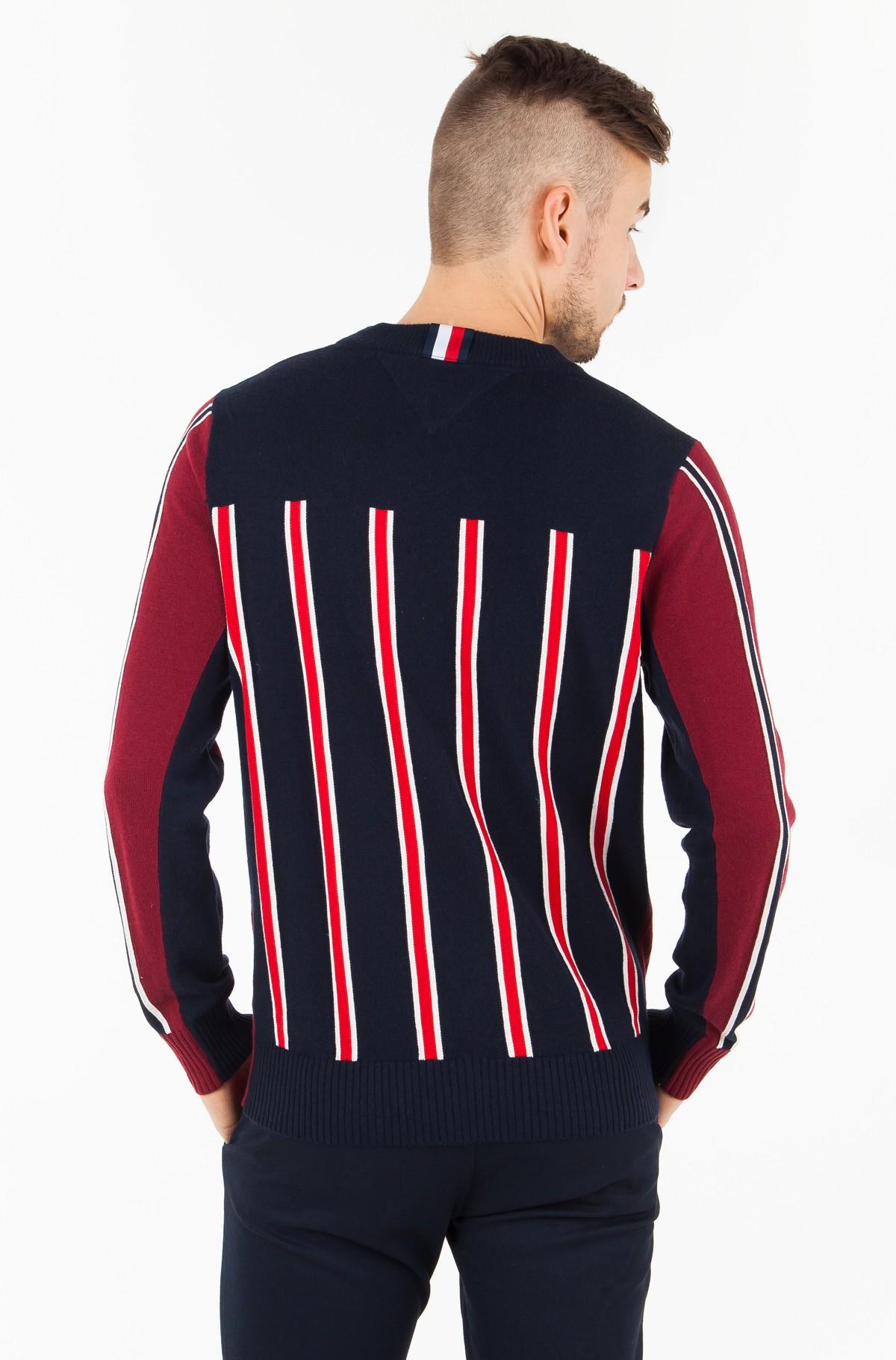 Sweater REGIMENTAL BLOCK STRIPED CNECK-full-2