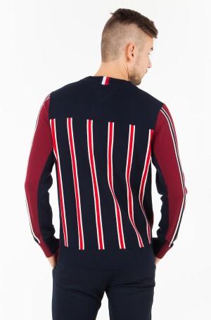 Sweater REGIMENTAL BLOCK STRIPED CNECK-2