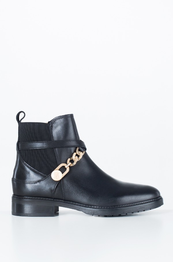 TH CHAIN BOOTIE LEATHER