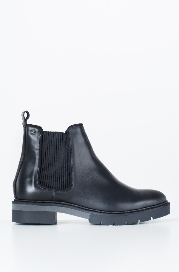 METALLIC LEATHER CHELSEA BOOT