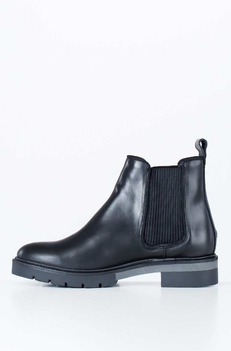 b42d9bc1cff0 black Boots METALLIC LEATHER CHELSEA BOOT Tommy Hilfiger
