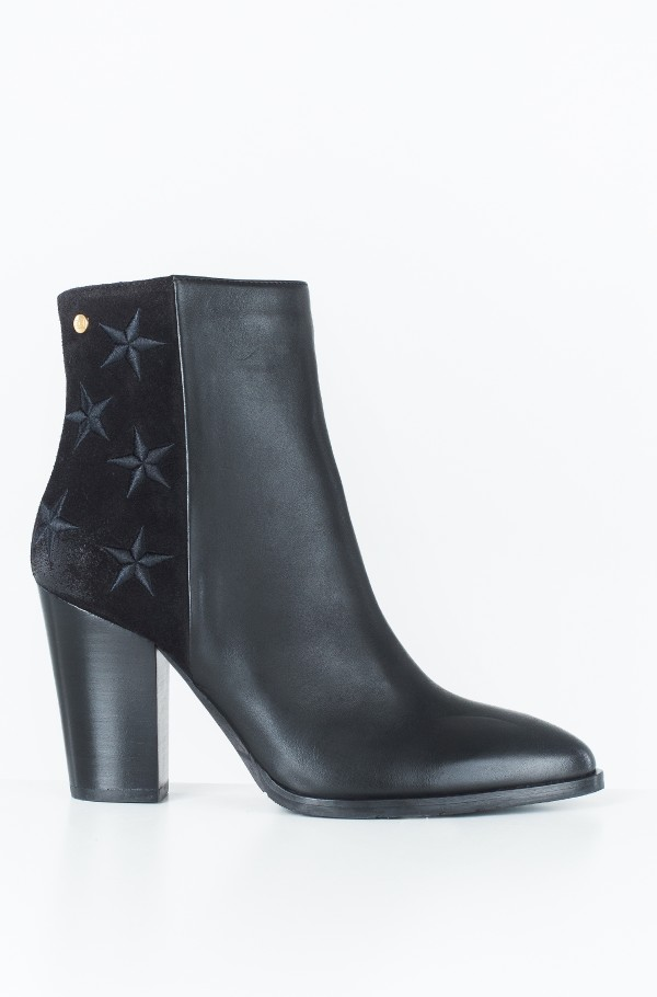 EMBROIDERED STARS HEELED BOOTIE