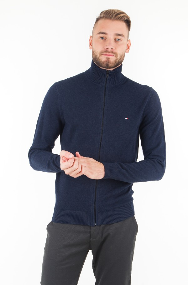 PIMA COTTON CASHMERE ZIP THROUGH