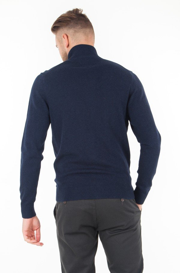 PIMA COTTON CASHMERE ZIP THROUGH-hover