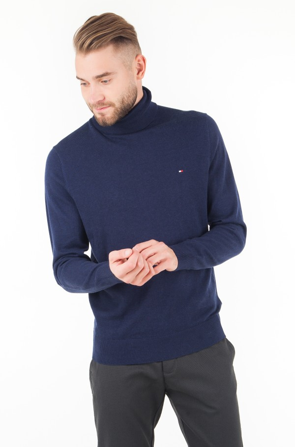 COTTON SILK ROLL NECK