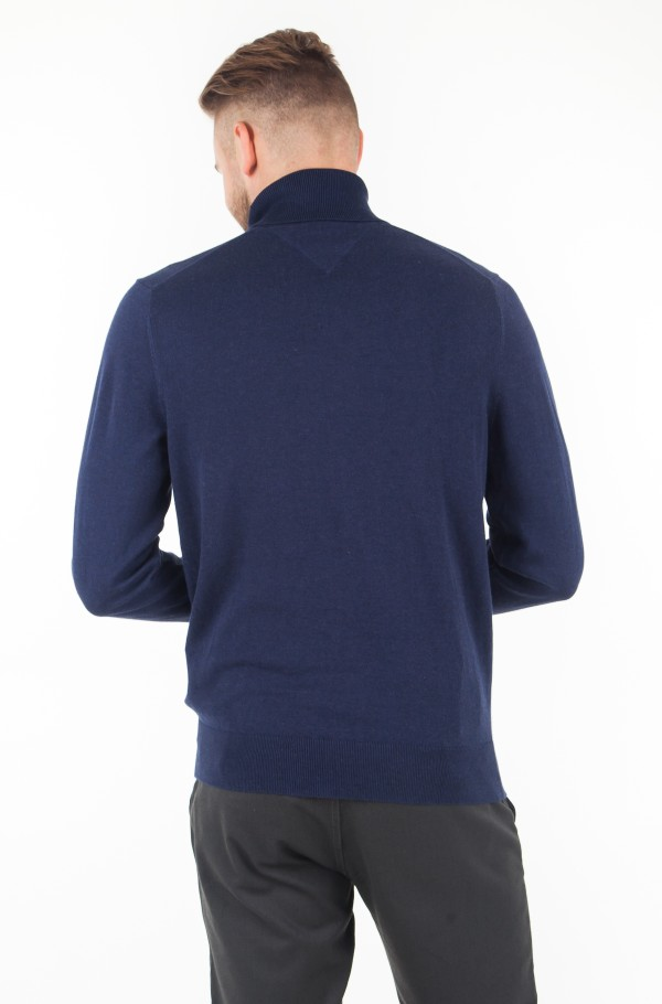 COTTON SILK ROLL NECK-hover