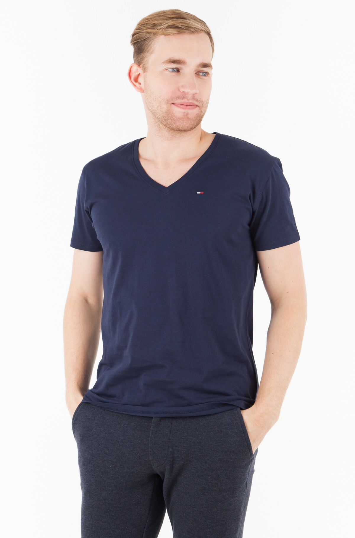 Marškinėliai TJM ORIGINAL JERSEY V NECK TEE-full-1
