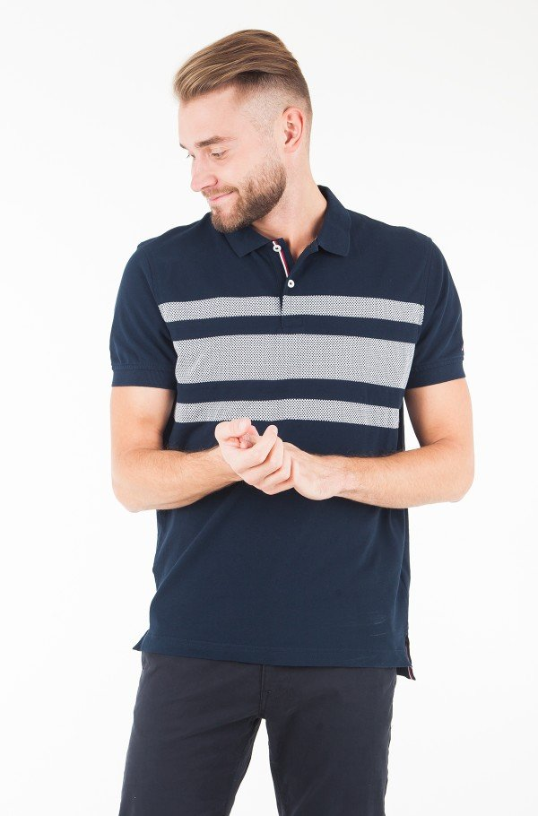 WCC STRIPE MINI PRINT REG POLO