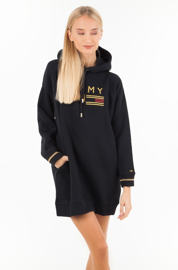 ICON NOELLE HOODED DRESS LS