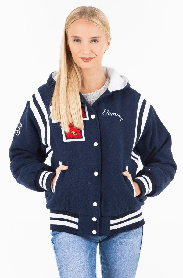 TJW HOODED VARSITY BOMBER