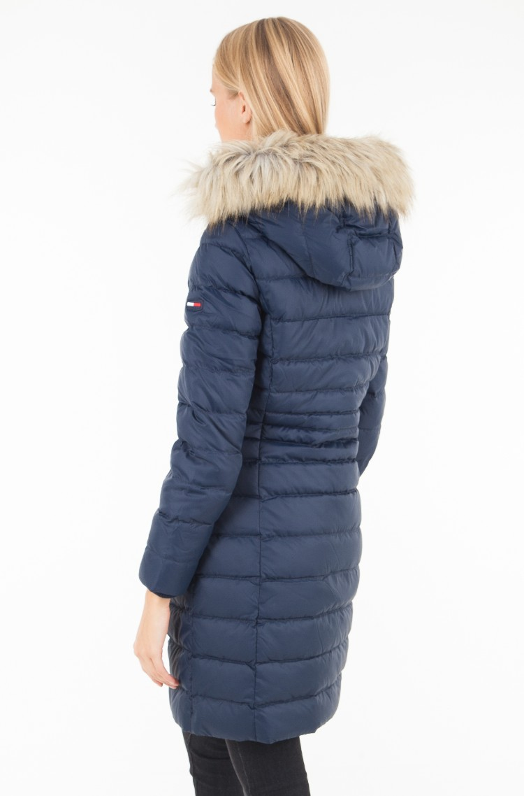 Tommy Jeans Womens Tjw Essential Hooded Down Coat Jacket