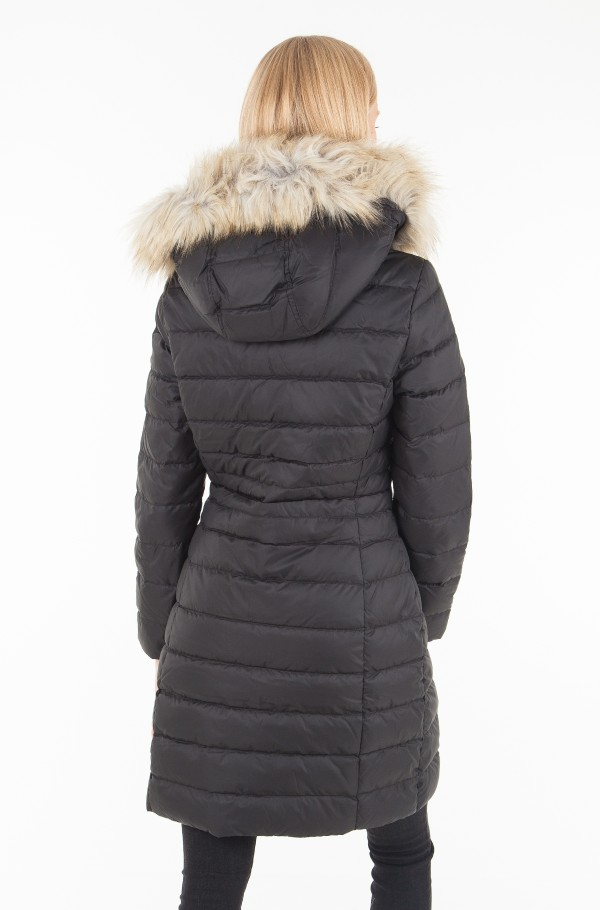 TJW ESSENTIAL HOODED DOWN COAT-hover