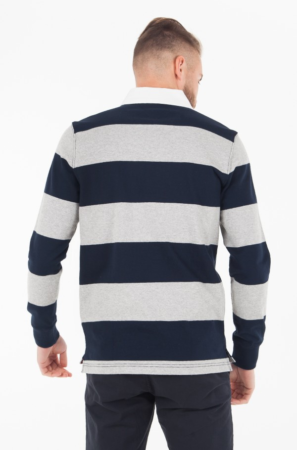 ICONIC BLOCK STRIPE RUGBY-hover