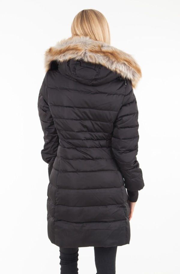 MID WEIGHT DOWN LONG NYLON PARKA-hover