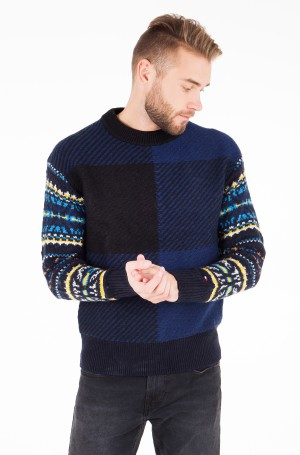 Sviiter FAIRISLE CHECK OVERSIZED SWEATER-1