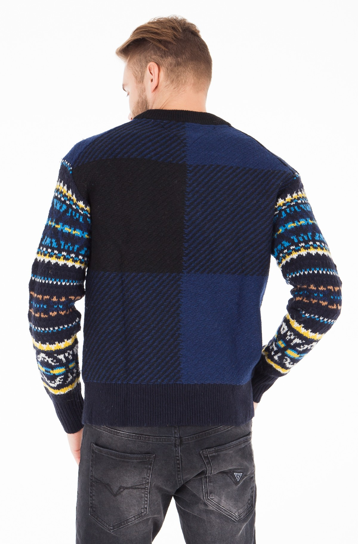 Sviiter FAIRISLE CHECK OVERSIZED SWEATER-full-2