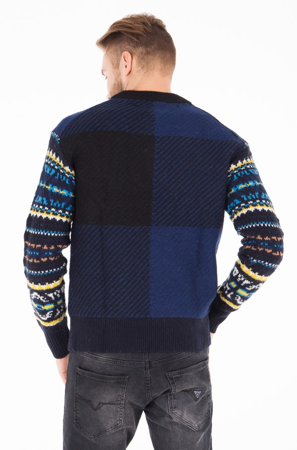 FAIRISLE CHECK OVERSIZED SWEATER-hover