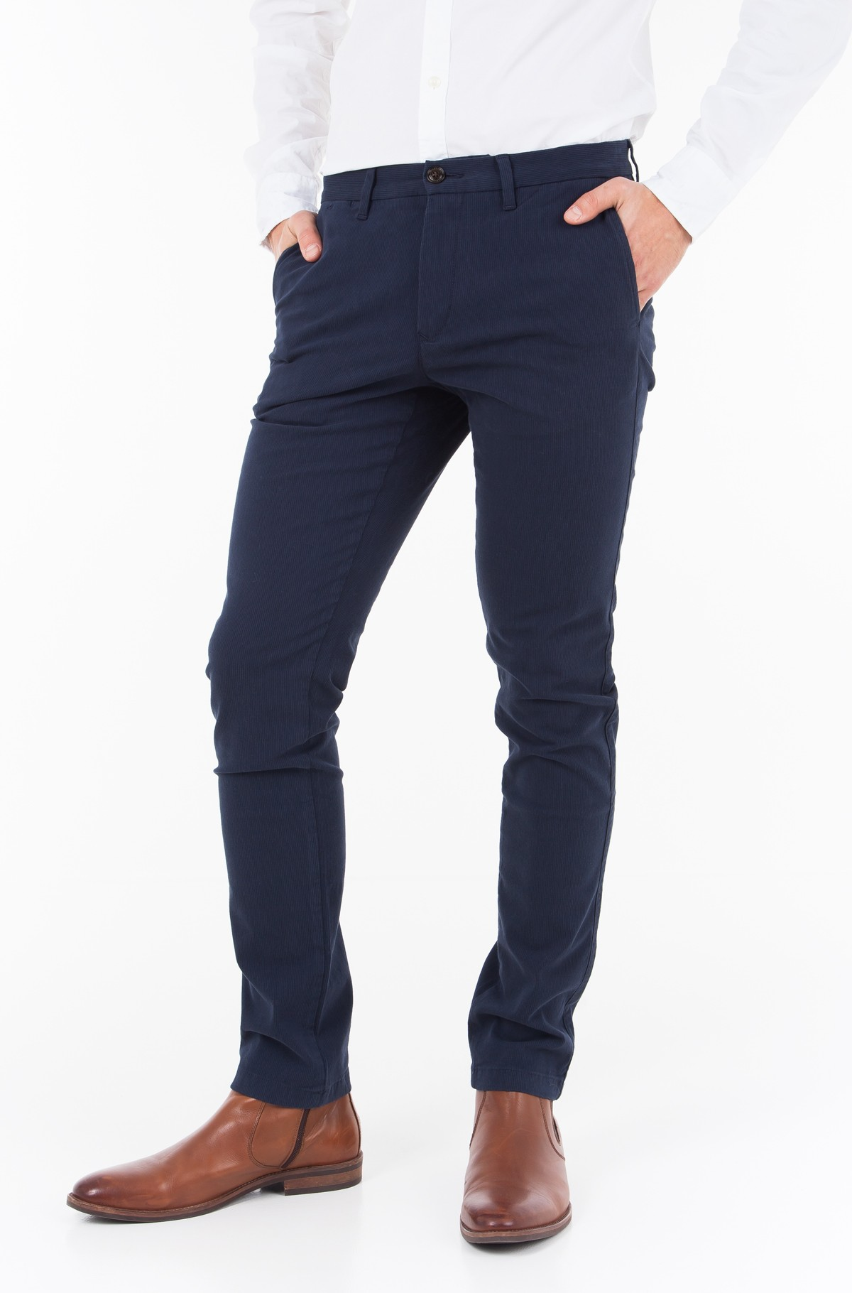 Trousers SLIM BLEECKER CHINO STR MELANGE	-full-1