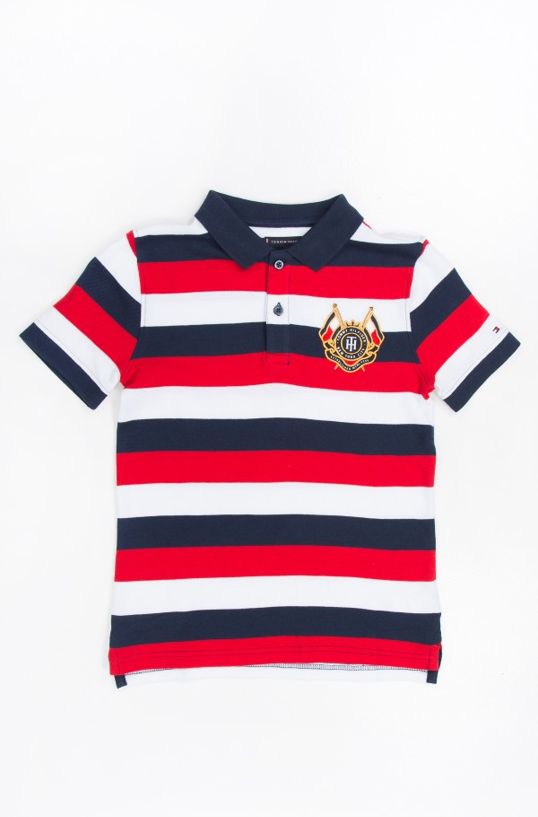 ESSENTIAL STRIPED POLO S/S