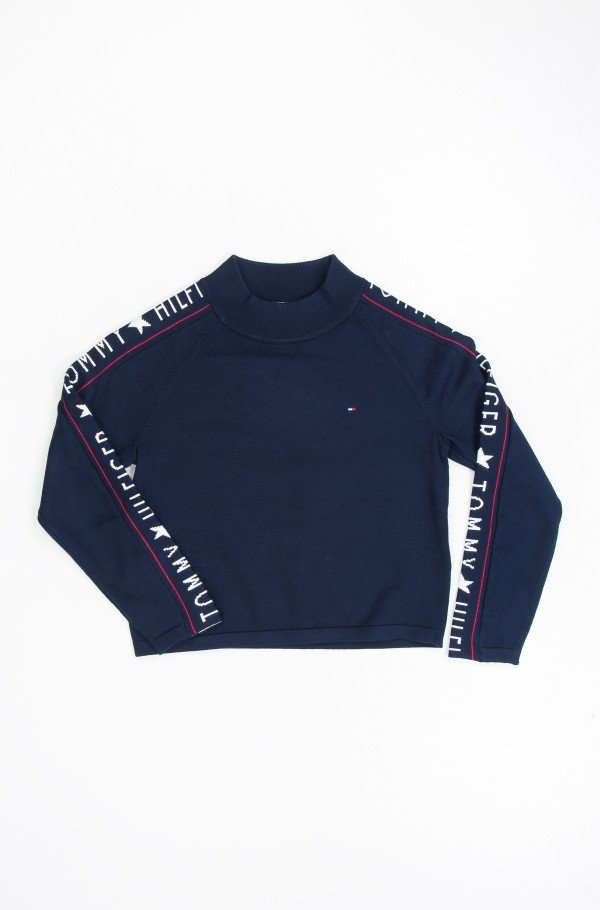 ICONIC LOGO MOCK NECK SWEATER