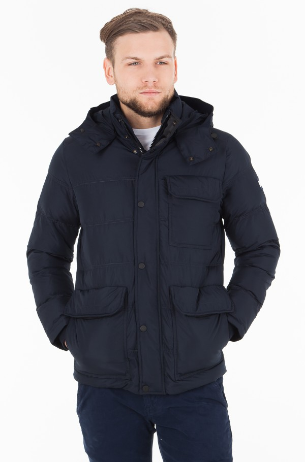 TOMMY DOWN HOODED BOMBER
