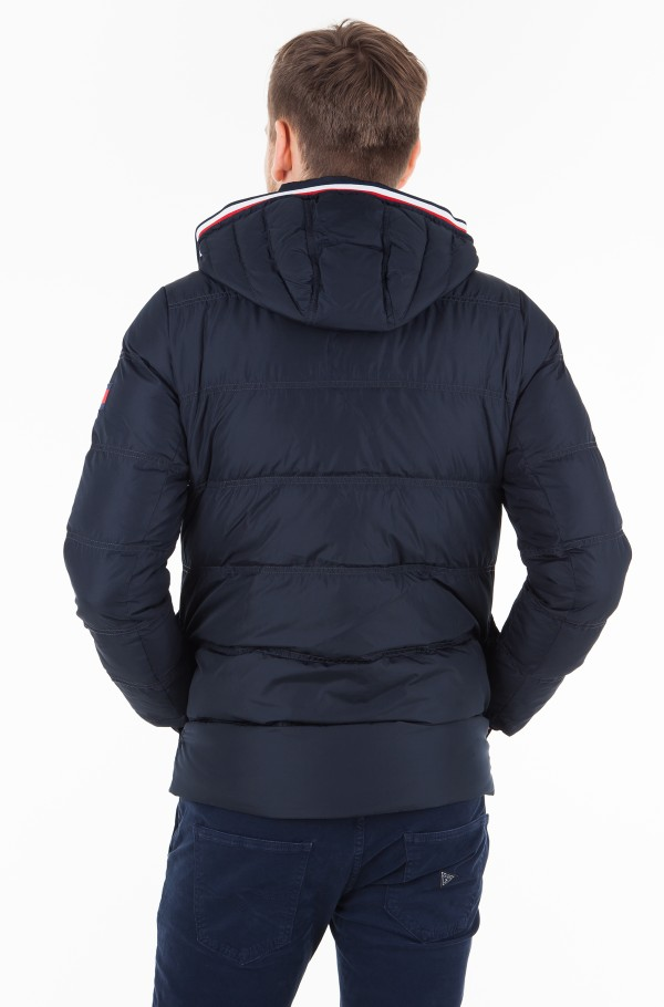 TOMMY DOWN HOODED BOMBER-hover