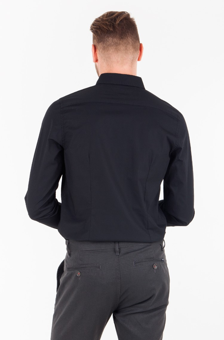 black Shirt CORE STRETCH SLIM POPLIN SHIRT Tommy Hilfiger dd6c2f77b41