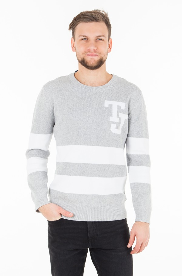 TJM LOGO STRIPE SWEATER