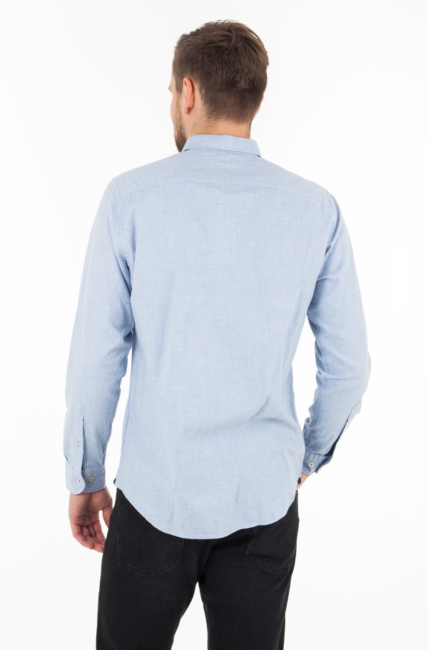 HEATHER HERRINGBONE SHIRT-hover