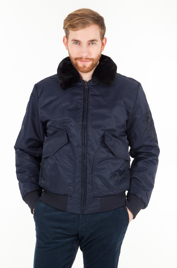 DETACHABLE COLLAR BOMBER
