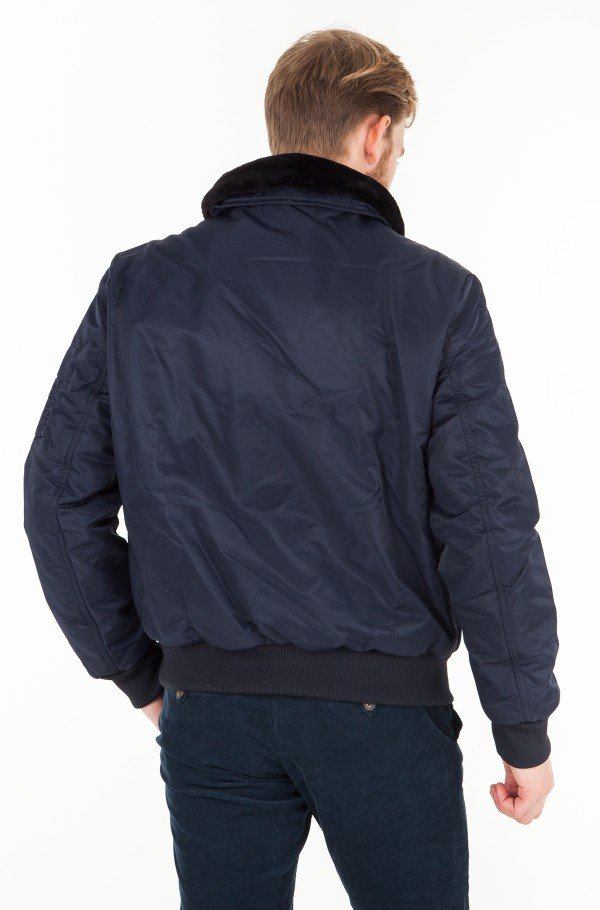 DETACHABLE COLLAR BOMBER-hover