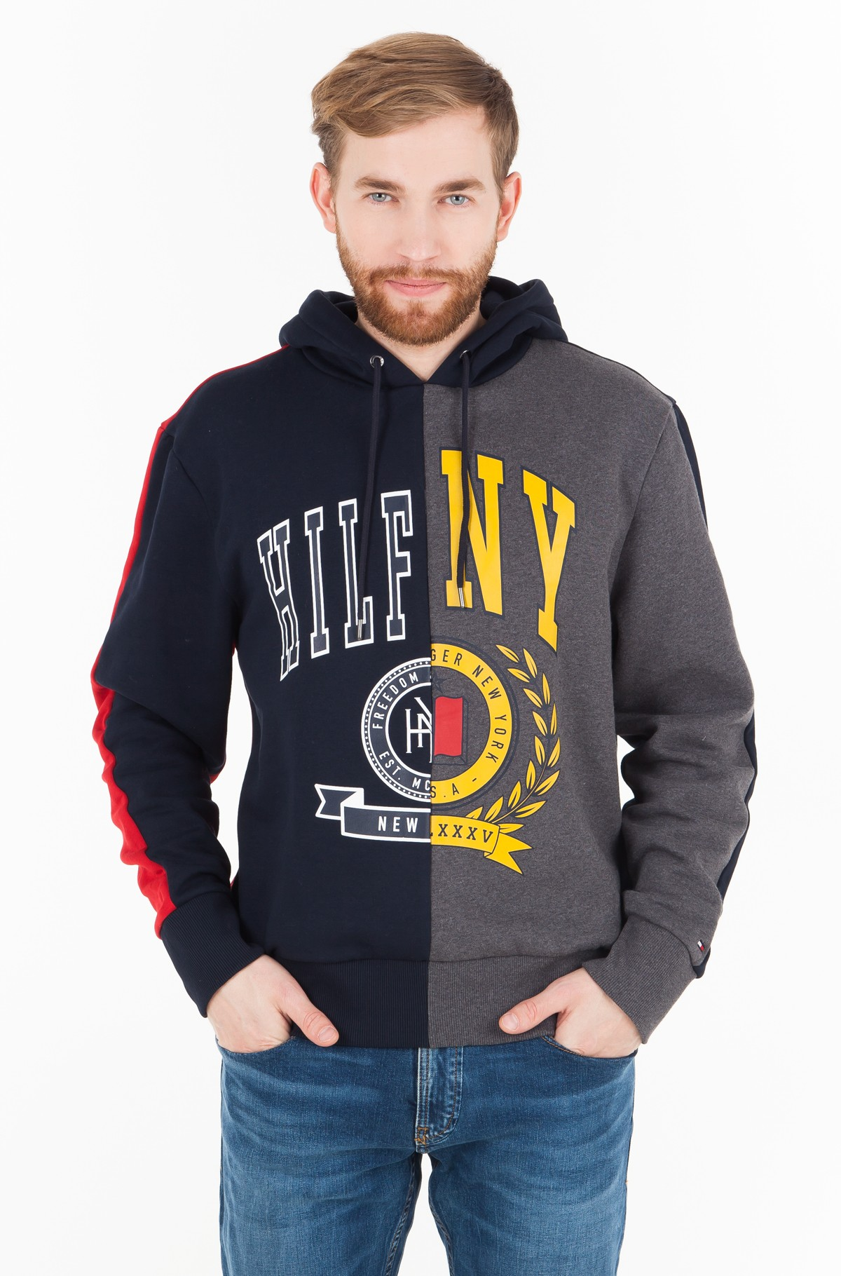Džemperis RELAXED COLORBLCK GRAPHIC HOODIE	-full-1