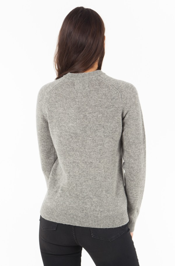 SHETLAND WOOL CREW NECK-hover