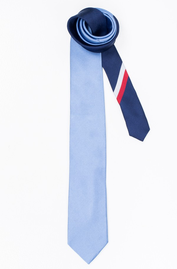 CORE SILK RIBBED 7CM TIE