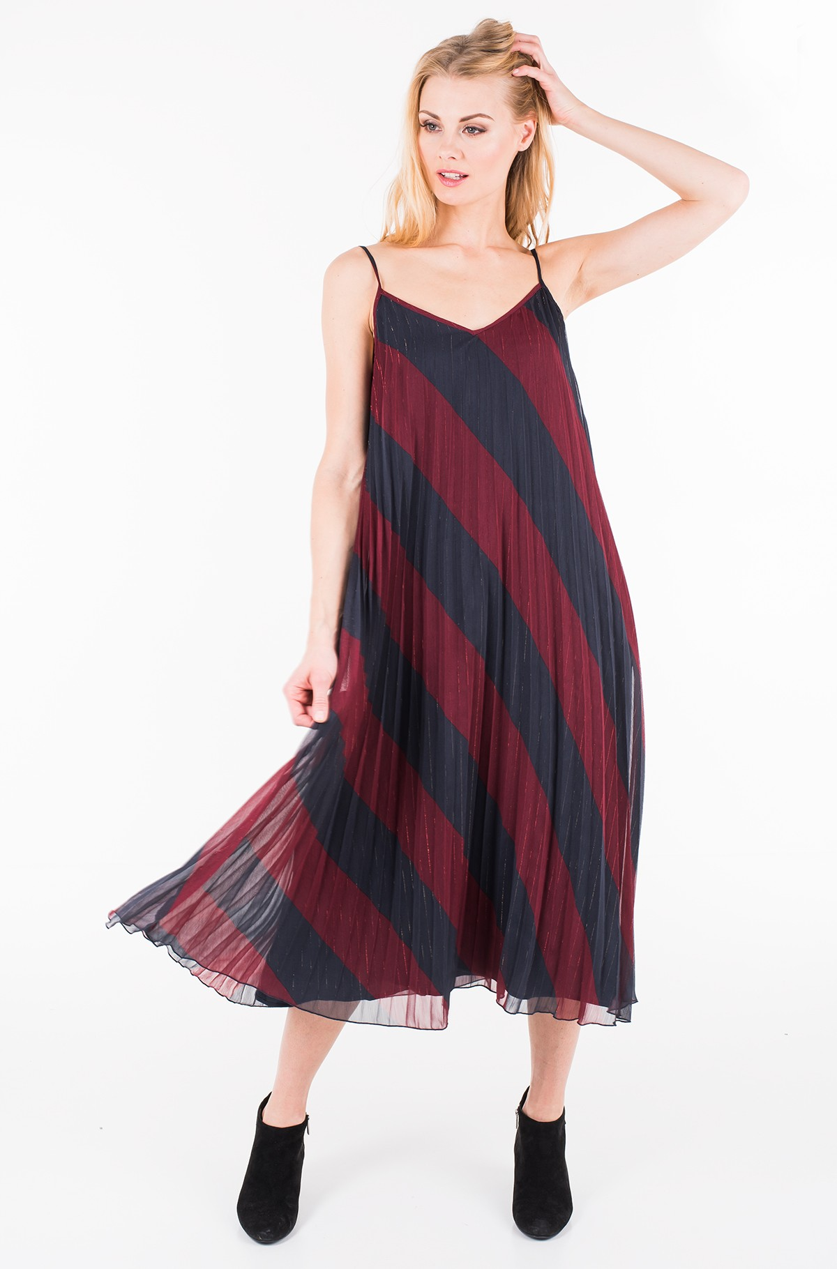 Kleit ICON PLEATED SLIP DRESS-full-1