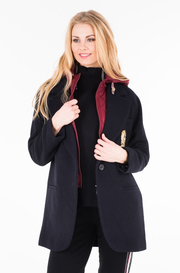 ICON WOOL AND NYLON COAT