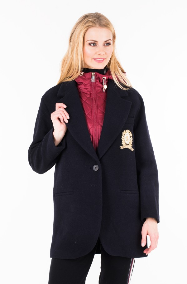 ICON WOOL AND NYLON COAT-hover