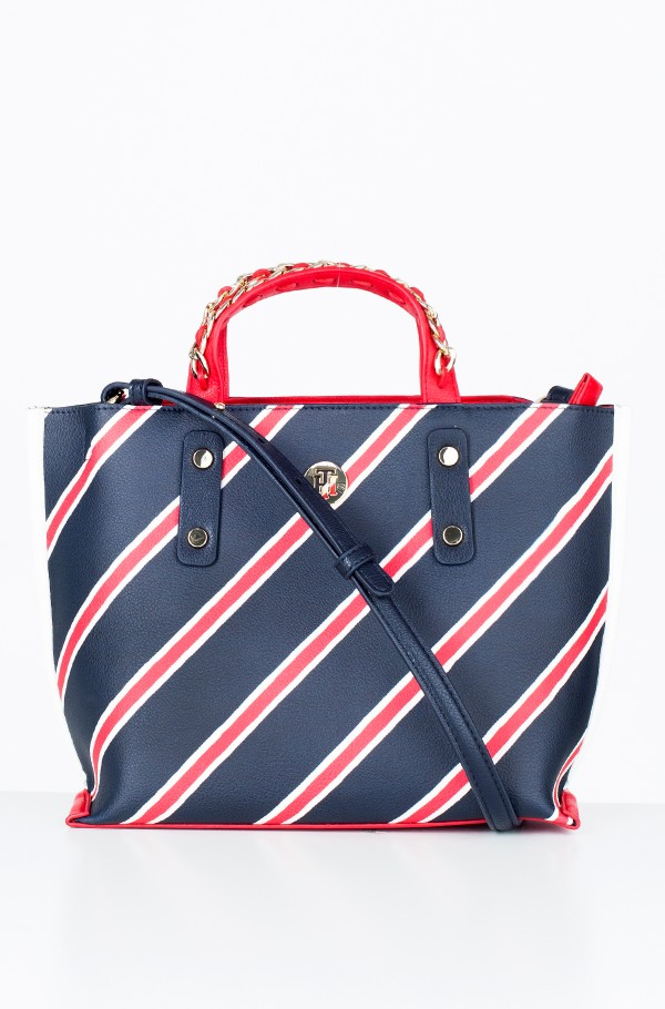 TOMMY CHAIN SMALL TOTE PRINT