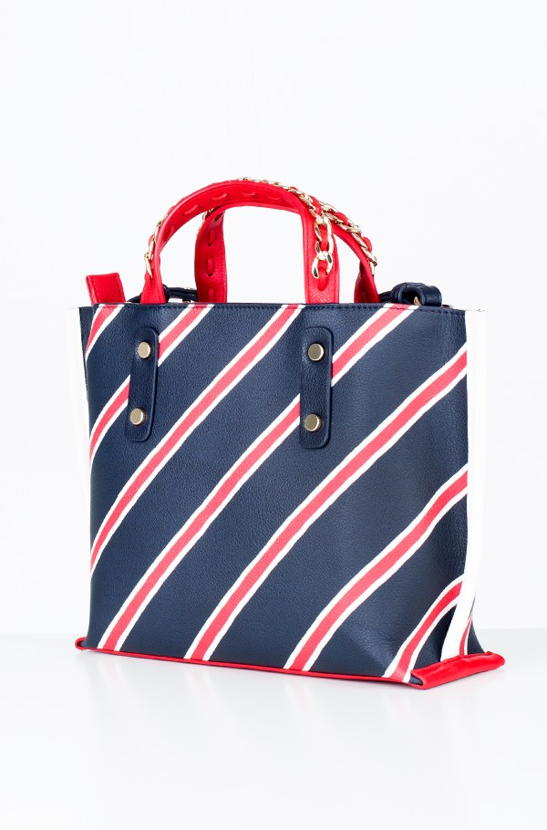 TOMMY CHAIN SMALL TOTE PRINT-hover