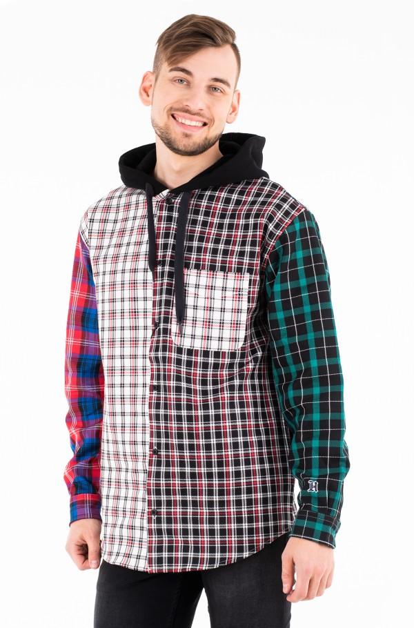 LEWIS HAMILTON PLAID HOODY SHIRT