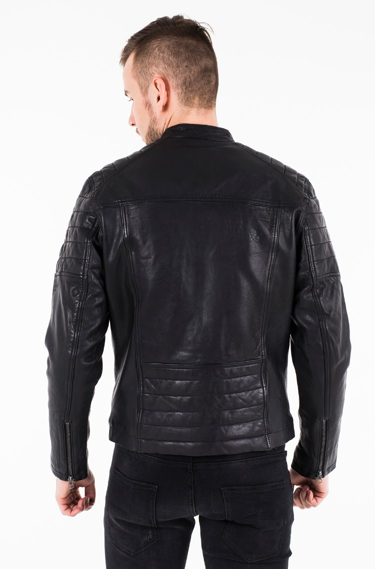 3280c7d9175 Leather jacket KEITH PM401905 Pepe Jeans