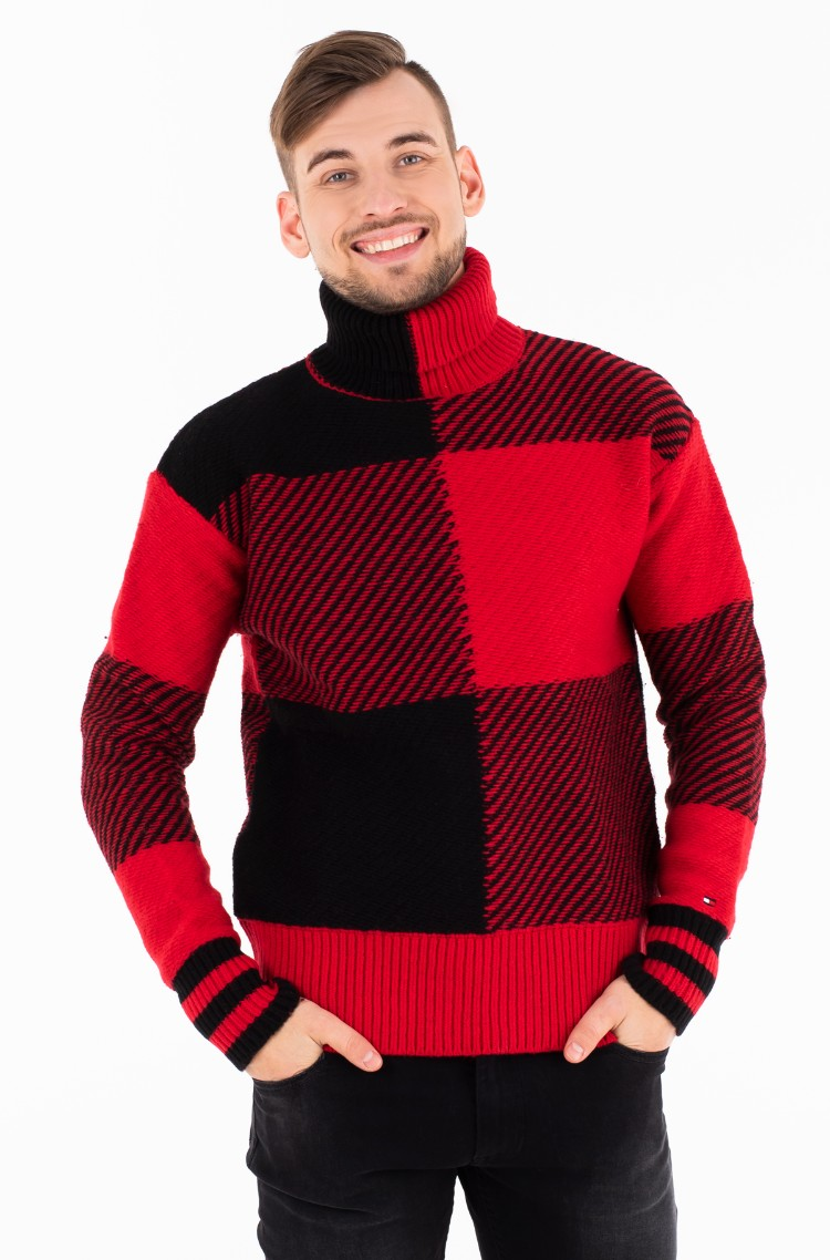 9d2946cf71d591 Sweater BUFFALO CHECK OVERSIZED SWEATER Tommy Hilfiger, Mens ...