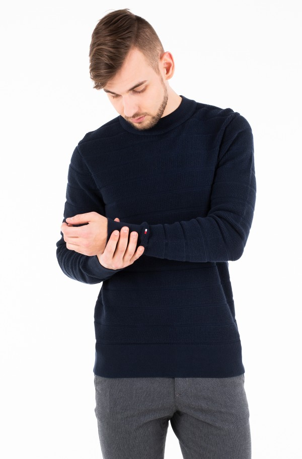 STRUCTURE STRIPE CREW NECK