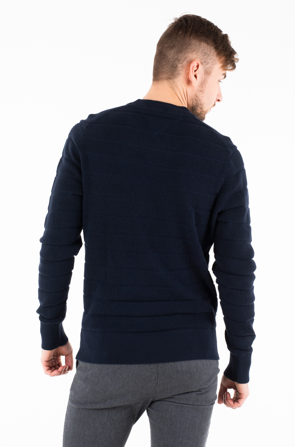 Sweater STRUCTURE STRIPE CREW NECK-full-2